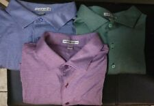 NWT  Lot of 3 Peter Millar Polo Shirts Men's sz L
