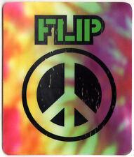 Flip Skateboard Sticker Peace skate snow surf board bmx van guitar old 2002