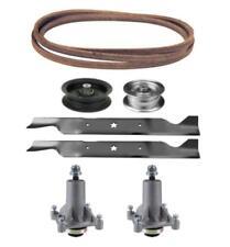 """Poulan Pro 46"""" PB20H46LT Mower Deck Parts Kit Spindles Blades Belt Idler Pulleys"""