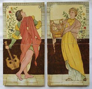 Pair of Arts & Crafts Classical Musicians. C1903