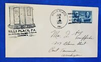 1947 Bill's Place Post Office Pennsylvania Event Cover / Cachet