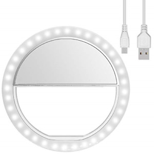 Diyife Ring Light, [Newest Version] Rechargeable Selfie Ring Light, 3-Level Clip