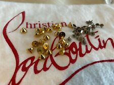 Christian Louboutin GOLD Replacement Studs Spikes AND Backing Spike Fixings
