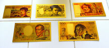"★ COLLECTION COMPLETE 5 BILLETS POLYMER  "" OR ""  COULEURS ANNEES 80 90  ★ REFb5"