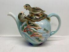 RARE! Franz Fine Porcelain Sea Turtle  Teapot