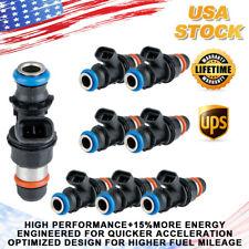 8x Upgrade Fuel Injectors For GM Chevy Silverado GMC 4.8/5.3/6.0L 99-07 25317628