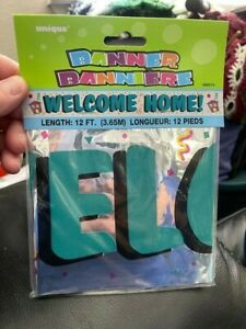Unique 12ft Foil Welcome Home Banner New!!!
