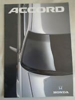 Honda Accord range brochure c1990