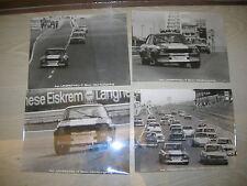 Vier VINTAGE FOTO - Opel Ascona A - Originalfoto Nürburgring Rennen - 70er Jahre