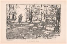 GOLF HARZARD, ROMANCE, antique print by Charles Dana Gibson, authentic 1902