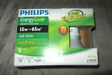 Philips CFL 15W = 65W R30 Reflector Soft White (2-Pack)  **√8304**
