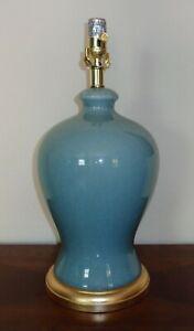 RALPH LAUREN LAMP ALSTON GINGER JAR NO SHADE CRACKLE PORCELAIN TEAL BLUE NEW