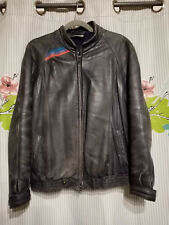 Vtg. 80s BMW M STYLE Nappa Leather Jacket Mens Medium E30 M3 M5 Cafe Racer M1