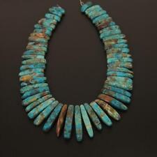 15.5'' Strand Natural Blue Ocean Stone Top Drilled Slab Beads Pendants DIY GH3I