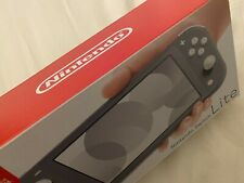 NEW Nintendo Switch Lite Gray Handheld Video Game Console 32 GB LCD Touchscreen