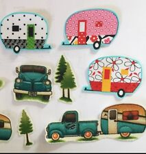 Camping / Vacation Summer Fun- Iron On Fabric Appliques