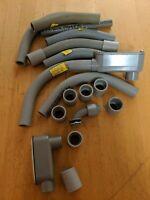 """Box of Misc. PVC Conduit Parts, Couplings, Pipe, Etc.  Cantex, Killark 3/4"""" 1/2"""""""
