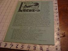 vintage Original SF Zine: LOCUS #39 oct 8, 1969--Charlie & Dena Brown--8 pgs