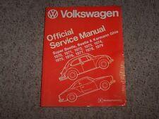 1971 Volkswagen VW Karmann Ghia Coupe Shop Service Repair Manual 1500 & 1600