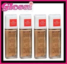4 x Revlon Nearly Naked Liquid Makeup Foundation ❤ 190 True Beige ❤ GLOSSI