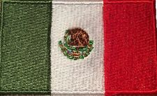 Mexico Flag Small Iron On / Sew On Patch Badge 6 x 3.5cm UMS Mexicanos AIRSOFT