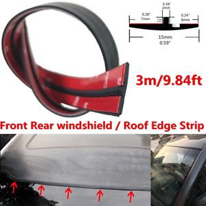 3 Meter Rubber Car Roof Edge Strip Windscreen Sunroof Trim Seal Water Dustproof