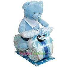 """★ Kleines Windelmotorrad """"Ralph""""★ blau Junge Plüschbär / Teddybär Windeltorte"""
