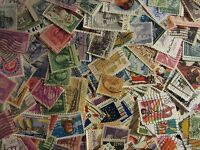 Old Timers stamp hoard of 300 ALL DIFFERENT USED STAMPS with FREE SHIPPING L34