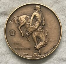 """MACO. Frederic Remington """"The Outlaw"""" Medal, 1971"""