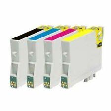 T715 Black & Colour 4 Pack Ink Cartridges Compatible for Epson SX415 (non-oem)