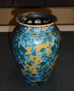Uwharrie Crystalline Pottery Vase Signed North Carolina