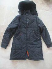 Manteau Doudoune à capuche SCHOTT noir femme taille XL