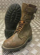 Genuine French Foreign Legion Brown Leather / Suede Army Boots - Size 41 - FB102