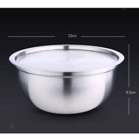 Stainless Steel Nested Mixing Bowls With Lid, Non-Slip Bowl Washing Bowl M