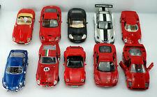 10 Modelautos, BURAGO u.a., 1:18, Jaguar, Ferrari, Porsche, Alpine