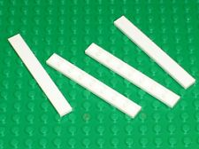 4 x LEGO White tile ref 1 x 8 ref 4162 / set 4999 10212 6990 7191 7679 7754 7259