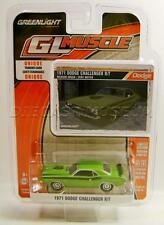 1971 '71 DODGE CHALLENGER R/T GREEN DIECAST GL MUSCLE R16 GREENLIGHT 2016