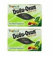 2X African Black Soap Dudu Osun For Eczema Acne Fungus Dermatitis Dark Spot 150G