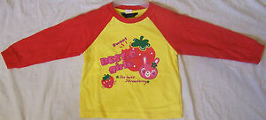 BEST CLUB LONG SLEEVE RED/YELLOW T-SHIRT SIZE 4 6 8 10 GIRLS KIDS CHILDRENS TOP