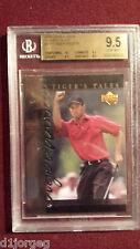 Tiger Woods 2001 Upper Deck Tiger Tales Rookie Card BGS Gem Mt 9.5