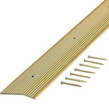 72 x 2 in. Satin Brass Carpet Trim Flooring Seam Gap Cover Nails Doorway Entry
