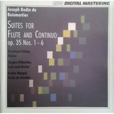 1-CD BOISMORTIER - SUITES FOR FLUTE AND CONTINUO OP. 35, NOS 1-6 - BOHM / HUBSCH