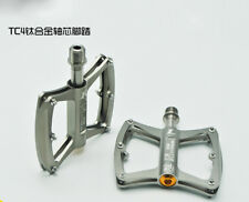 Titanium Bike MTB Mountain Road Bicycle Platform Pedal Sealed Bearings Pedals