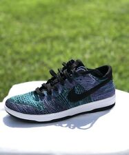 brand new 9301b 02498 Nike Dunk Flyknit Black Chlorine Blue Men s Running Shoes 917746-005 Size  9.5
