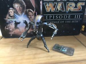Star Wars Episode One TPM Droideka Destroyer Droid Figure VGC with Commtech Chip