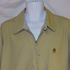Men's Jacket Tommy Hilfiger Size Large NWT Tan / Chamois Front Zipper