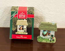 1990 IRISH WINDOWS OF THE WORLD NOLLAIG SHONA HALLMARK CHRISTMAS ORNAMENT MIB
