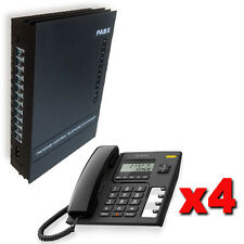 Centralino telefonico analogico PABX 3/8 linee + 4 telefoni garanzia italiana