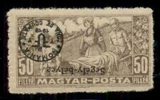 HUNGARY 2nd DEBRECEN issue, 1920, 3NB2 w/INVERTED OVPT, hinged, VF
