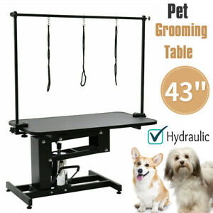 Extra Large Dog Cat Pet Grooming Trimming Table Hydraulic Z Lift Adjustable Arm